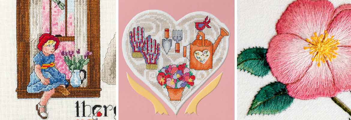 Cross Stitch, Embroidery | There is a Season, Spring with Heart, Rosa Blanda - Jo Gatenby, Maria E. Gollek, Carol Arsenault