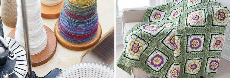 Circular Sock Knitting Machine, Marnie J. Parkin | Afghan for Aunt Joyce, Ruth I. Forbes
