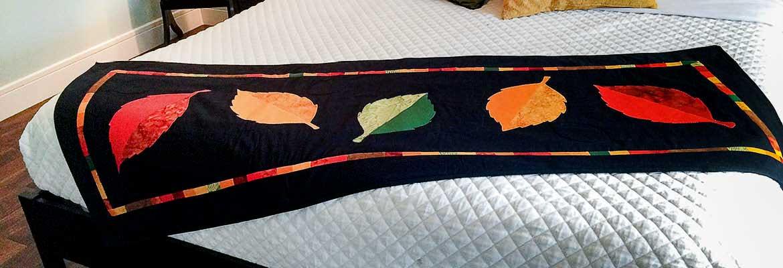 Fallen Leaves Bed Scarf, Lynn Swanson