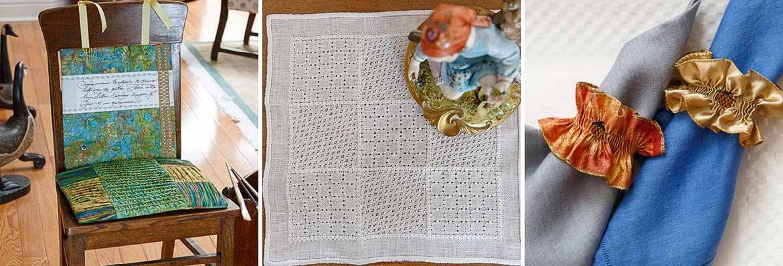 The Artist Chair, Cheryl Stranges | One Pretty Doily, Kim Beamish | My Little Acorn Napkin Ring, Judith Marquis