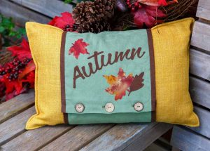 Autumn Cushion Wrap Pattern - Fall 2016
