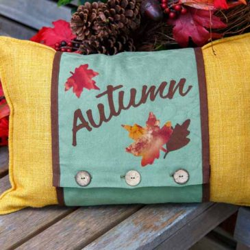 Greetings! For an autumn cushion wrap and Maple Leaf coasters