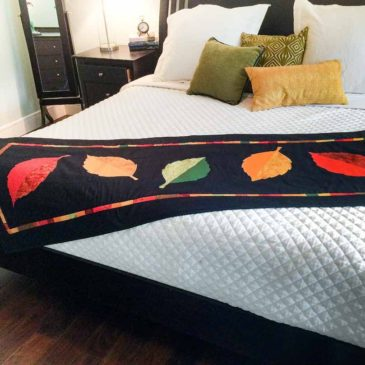 Fallen Leaves Bed Scarf