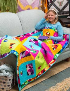 Kids Lap Quilt with Feet Warmer Pattern - Fall 2016