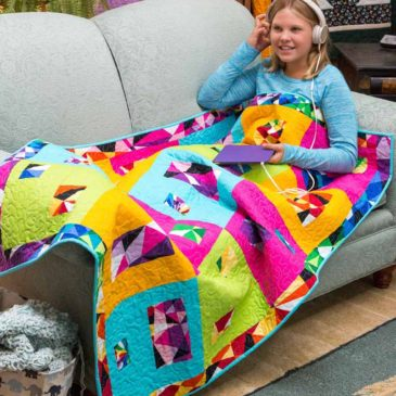 Kids Lap Quilt with Feet Warmer