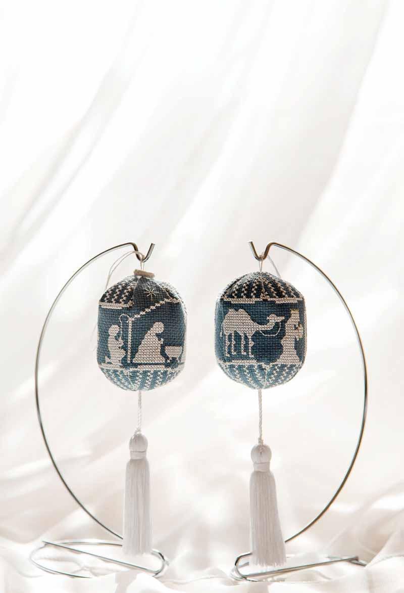 Jaspeware Wedgewood Nativity Ornaments Pattern - Fall 2016
