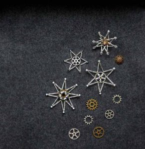 Beaded Snowflake Brooches