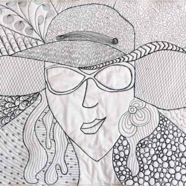 Quilted Zentangle Self Portrait