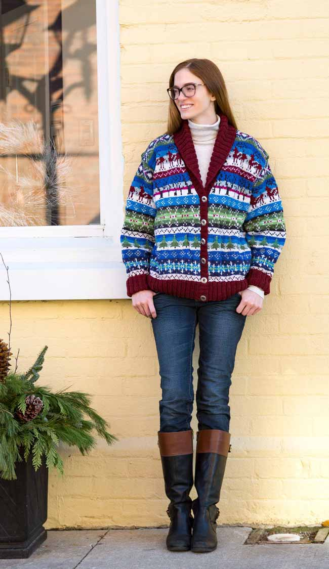 Snowflakes & Evergreens Cardigan