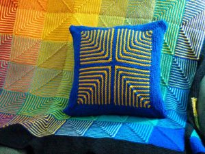 Afghan Scraps Cushion Tops Pattern