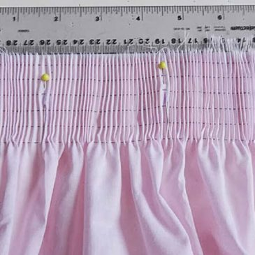 Fabric ratios for smocking and other applications
