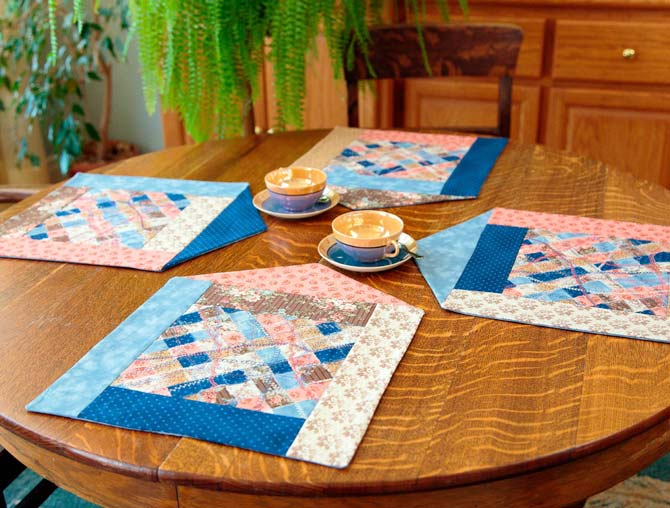 Scrappy House Placemats Pattern