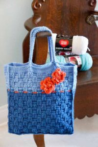 Tak-a-Long Blue Tote