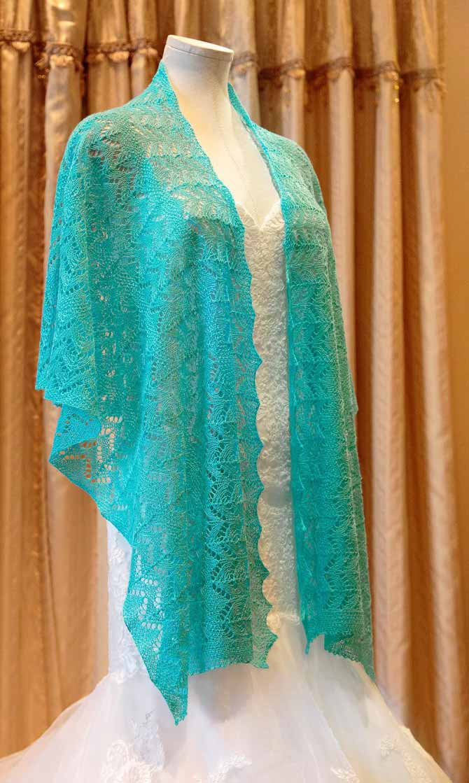 Double Horseshoe Wedding Shawl Pattern Knitting