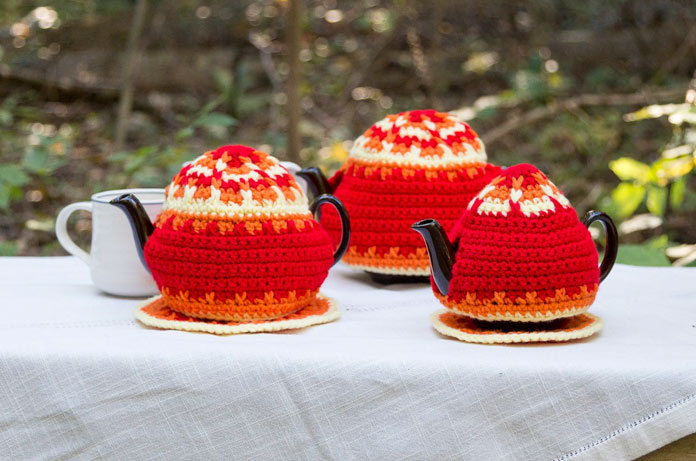 Autumnal Tea Pot Cozy and Mat