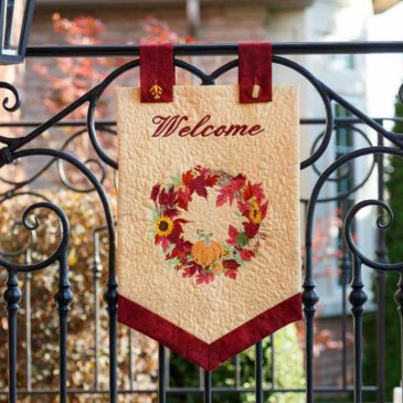 Fall Welcome Wreath Banner