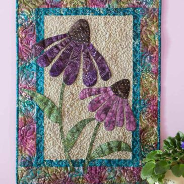 Purple Coneflowers Banner