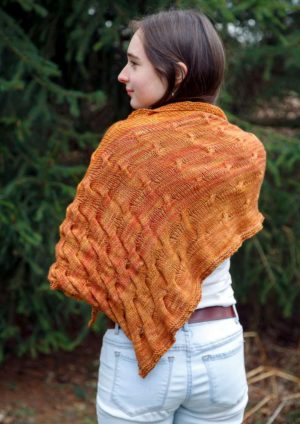 Allegra sunset shawl