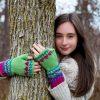 Lovebirds Fingerless Gloves