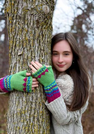 Lovebirds Fingerless Gloves