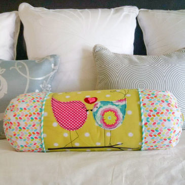 Funky Lovebirds Bolster Pillow