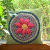 Garden Mandala Cushion Cover