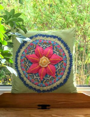 Garden Mandala Cushion Cover