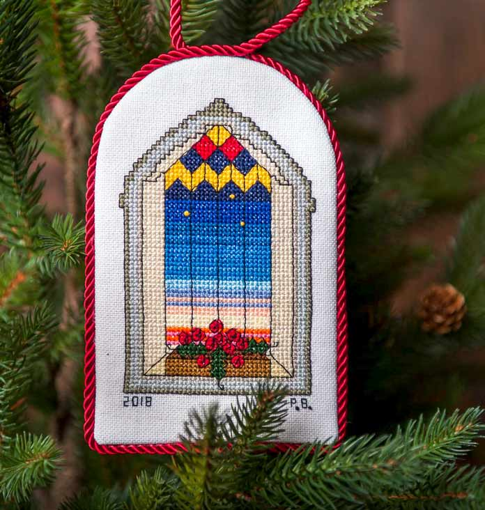 Christmas Arched Window