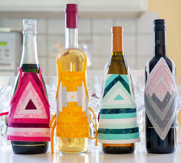 Wine Bottle Aprons and Ornaments