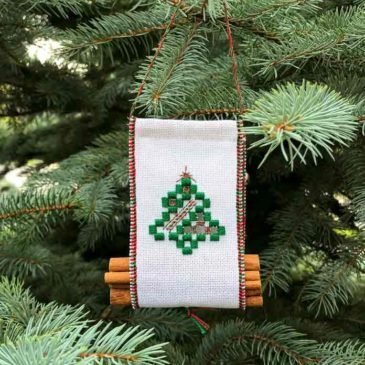 Yule Log Tote Christmas Ornament