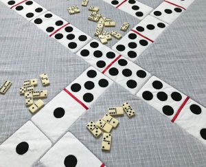 Dominoes Game Tablecloth