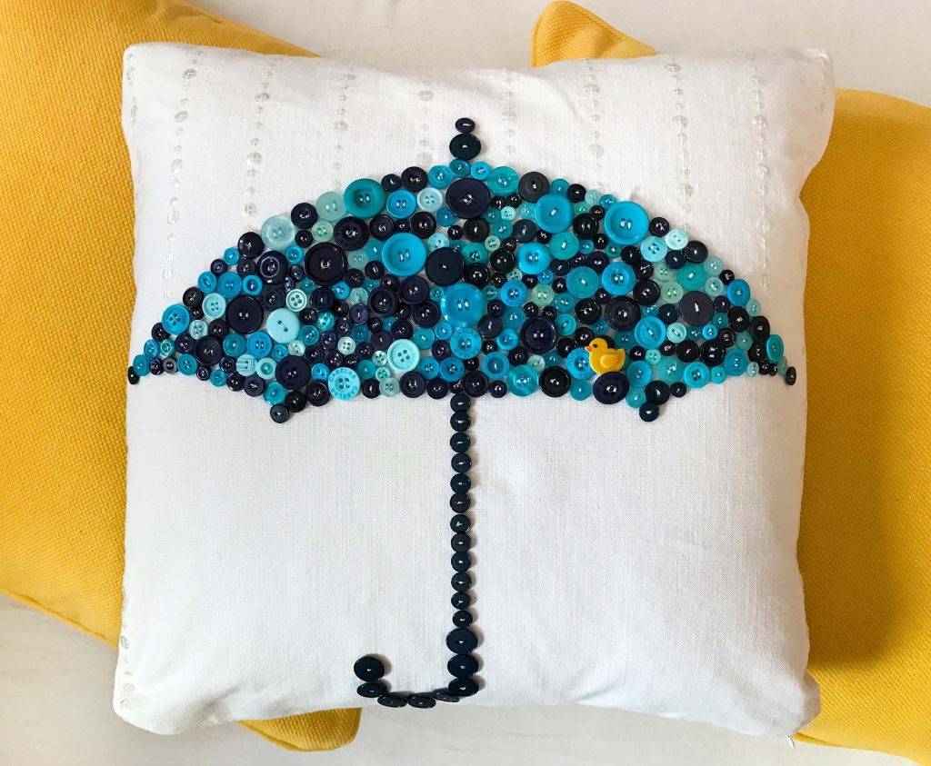Raindrops Won't Fall on My Head! Cushion