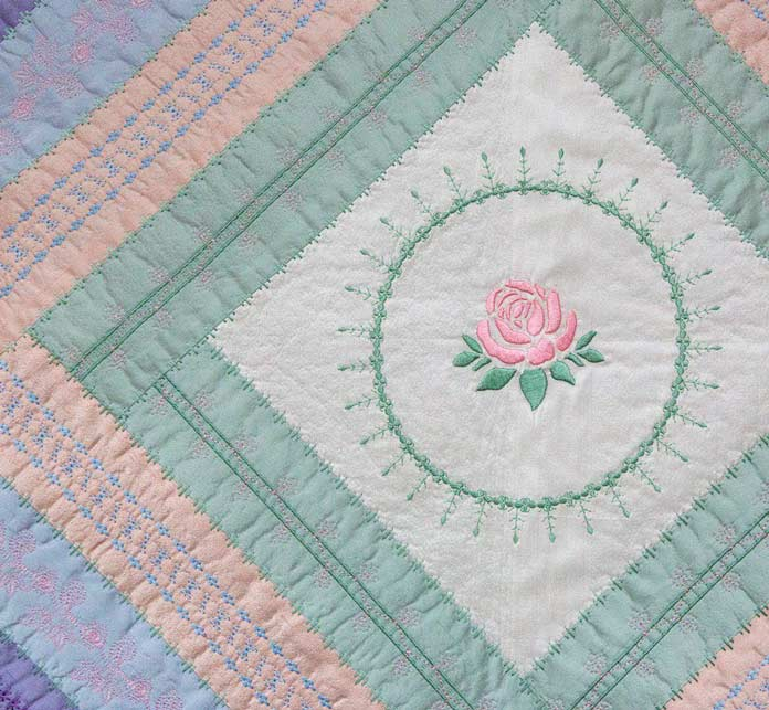 Second Hand Rose Table Runner Pattern