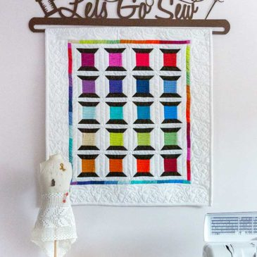 Spotted Spools Quilted Banner