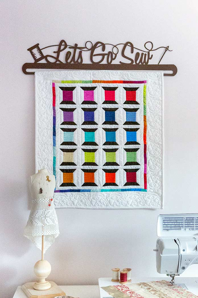 Spotted Spools Quilted Banner Anptmag