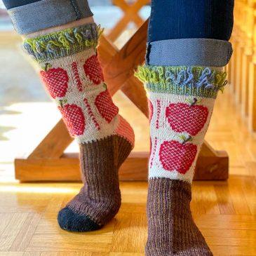 Gingham Apples Socks