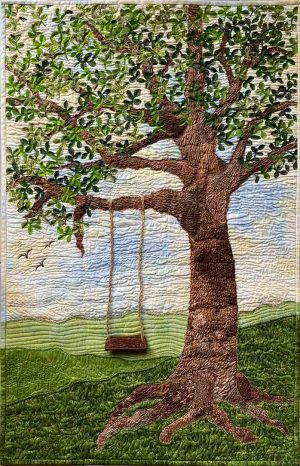 Swing into Spring Wall Hanging