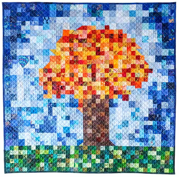 The Pixelated Tree Quilt