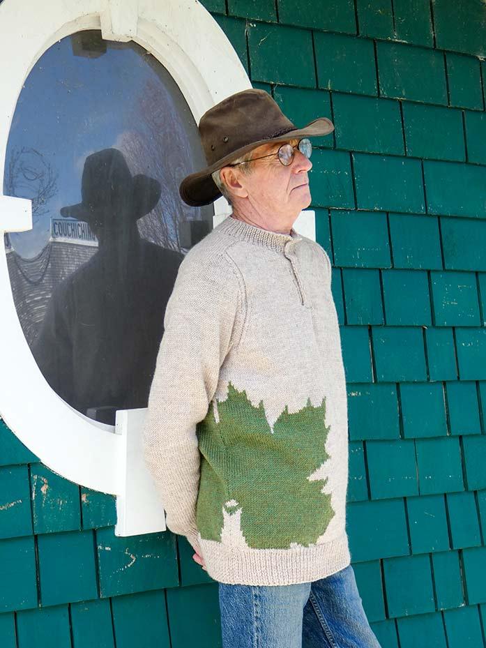 Tilted Maple Leaf Henley