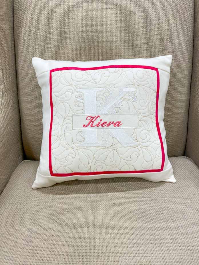 Modern Monogram Cushion