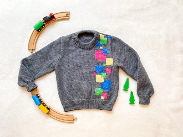 Poppin' Blocks Sweater